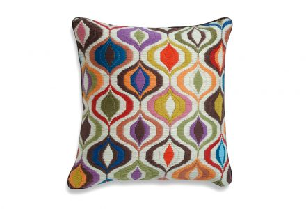 JONATHAN ADLER Bargello Waves Wollkissen multi