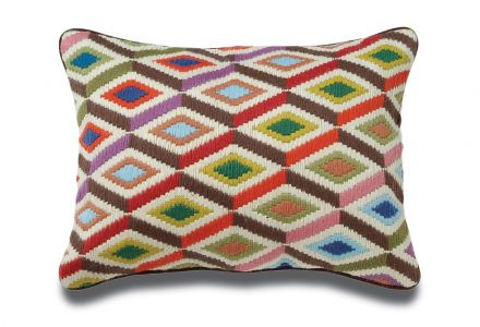 JONATHAN ADLER Bargello Diamonds Wollkissen multi