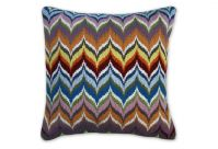 Bargello Flame Multi-Colour Wollkissen